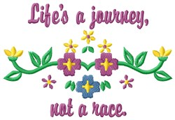 Lifes Journey embroidery design