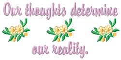 Our Reality embroidery design