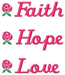 Faith Hope embroidery design