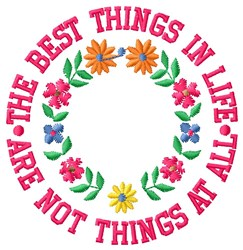 Best Things embroidery design