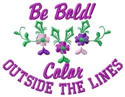 Bold Color embroidery design