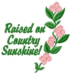 Country Sunshine embroidery design