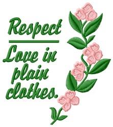 Respect Love embroidery design