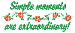 Simple Moments embroidery design