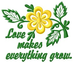 Love Grows embroidery design