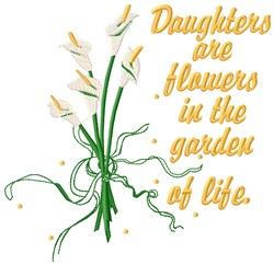 Daughters Are Flowers embroidery design