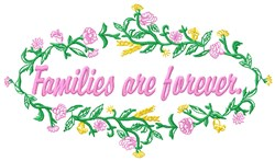 Families Forever embroidery design