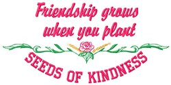 Friendship Grows embroidery design