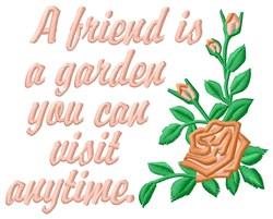 Friend Is Garden embroidery design