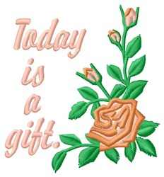 Today Is Gift embroidery design