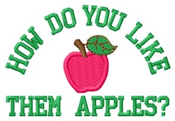 Like Apples embroidery design