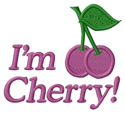 Im Cherry embroidery design