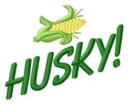 Husky embroidery design