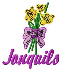 Janquils embroidery design