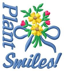 Plant Smiles embroidery design