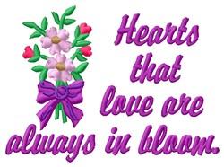 Hearts Love embroidery design