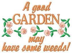 Garden Weeds embroidery design