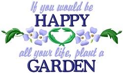 Happy Garden embroidery design
