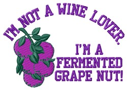 Fermented Grape embroidery design