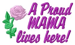 Proud Mama embroidery design