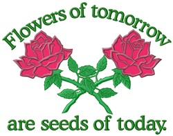 Flowers Tomorrow embroidery design