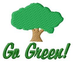 Go Green embroidery design