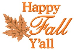 Happy Fall embroidery design