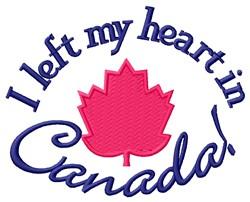 Heart In Canada embroidery design