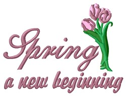 New Beginning embroidery design