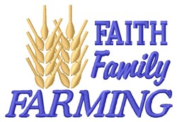Farming embroidery design