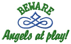 Angels Play embroidery design
