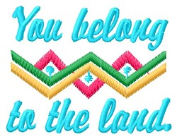To The Land embroidery design