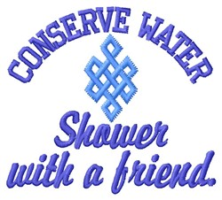 Conserve Water embroidery design