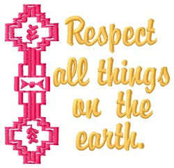 Respect Earth embroidery design