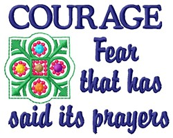 Courage embroidery design