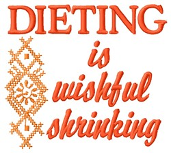 Dieting embroidery design