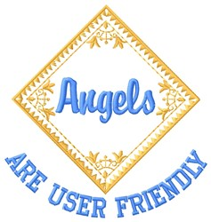 Angel Friendly embroidery design