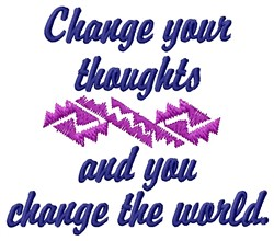 Change Thoughts embroidery design