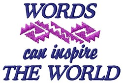 Words Inspire embroidery design