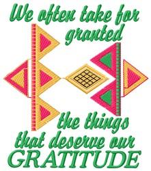 Gratitude embroidery design