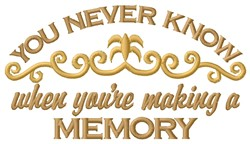 A Memory embroidery design
