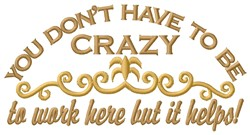 Be Crazy embroidery design