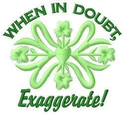 Exaggerate embroidery design