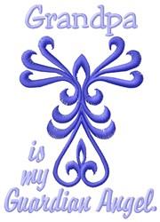 Grandpa Angel embroidery design