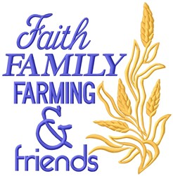 Faith Family embroidery design