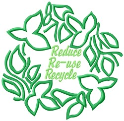 Recycle embroidery design