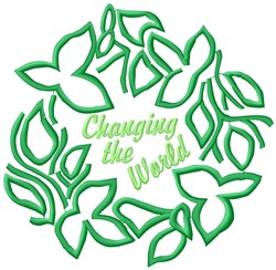 Changing World embroidery design