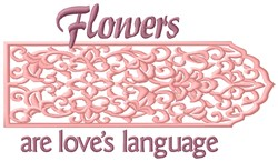 Loves Language embroidery design