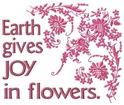 Earth Joy embroidery design