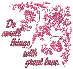 Great Love embroidery design
